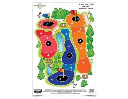"Birchwood Casey Pregame Chip Shot 12"" x 18"" Golf Course Target, White, 100/pack - 35587"