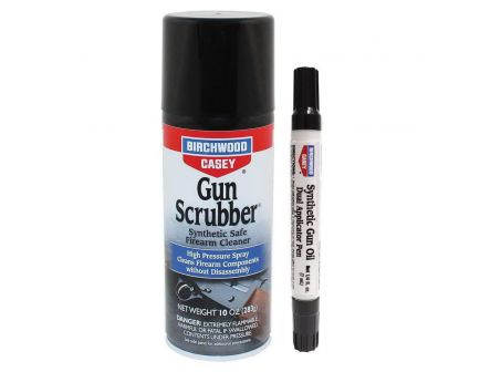 Birchwood Casey Gun Scrubber Synthetic Cleaner and Dual Applicator Pen Pack, 10 oz Aerosol Can, 0.25 fl oz Pen - 33321