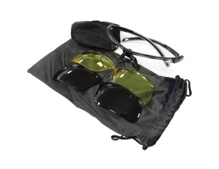 Birchwood Casey Convert Changeable Shooting Glasses 3 Lens Kit, Clear/Yellow/Smoke Lens - 43453