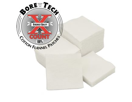 Bore Tech X-Count Square Cleaning Patches, .308/.338/.40 Cal/.10mm/.44/.45, 500/pack - BTPT-2-S500