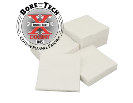 Bore Tech X-Count Square Cleaning Patches, .50, 20/16/12/10 Gauge, 500/pack - BTPT-3-S500
