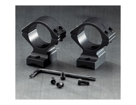 Browning 30mm Aluminum Alloy 2-Piece Integrated Scope Ring, Matte Black - 12671