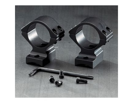 "Browning 1"" Aluminum Alloy 2-Piece Integrated Scope Ring, Gloss Black - 12395"