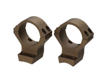 Browning 34mm Intermediate Aluminum Alloy Lightweight 2-Piece Integrated Scope Ring, Burnt Bronze Cerakote - 12541