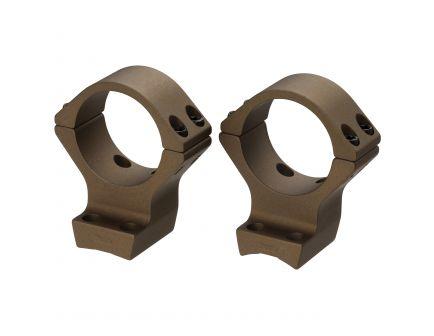 Browning 30mm Intermediate Aluminum Alloy Lightweight 2-Piece Integrated Scope Ring, Burnt Bronze Cerakote - 12535