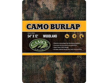 Camo Unlimited Fabric Ground/Tree Burlap, Woodland - 9540