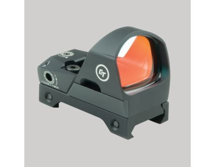 Crimson Trace Compact Open 1x Reflex Red Dot Sight, Illuminated 3.25 MOA Round Dot - CTS1400