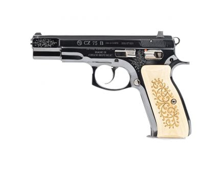 CZ-USA CZ 75 45th Anniversary Limited Edition 9mm Pistol, Gloss Blue - 91137