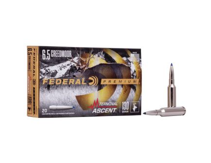 Federal 130 gr Terminal Ascent 6.5 Crd Ammo, 20/pack - P65CRDTA1