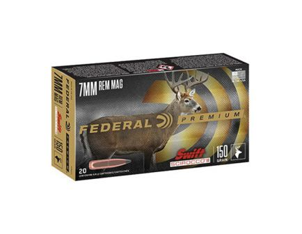 Federal 150 gr Swift Scirocco II 7mm Rem Mag Ammo - P7RSS1