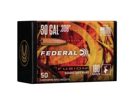 Federal Fusion Component .30 180 gr SP Bullet, 50/pack - FB308F4