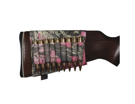 GrovTec 9 Shell Rifle Buttstock Ammo Holder, TrueTimber Conceal Dark Pink - GTAC74
