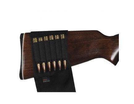 GrovTec 6 Loop Rifle Buttstock Ammo Holder w/ Cover, Black - GTAC83