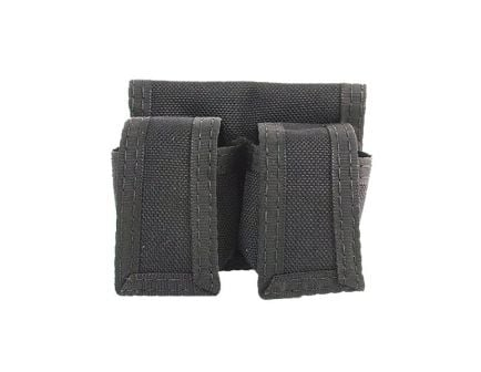 HKS Double Magazine Holster Fits Colt/Charter Arms/Dan Wesson/Rossi/Ruger/S&W/Taurus, Black Cordura Nylon - 100B