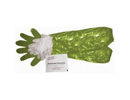 HME Game Cleaning Gloves w/ Towelette, Green, 4/pack - GCG4