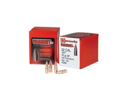 Hornady Varmint .22 50 gr SP Rifle Bullet, 100/box - 2245