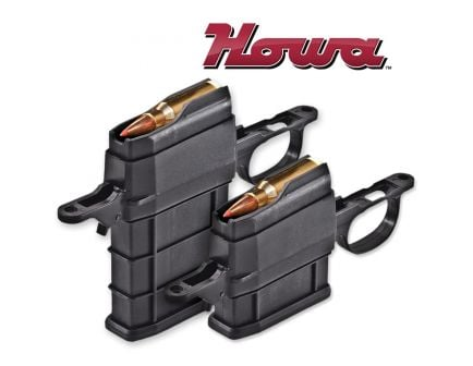 Howa 5 Round 6.5 Crd Detachable Magazine Kit w/ Floor Plate, Black - ATIK5R65CR