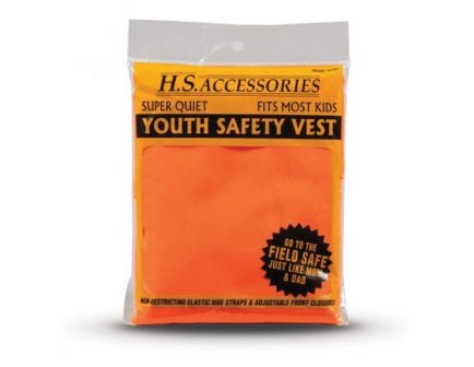 Hunter's Specialties Super Quiet Youth Neoprene Safety Vest, Blaze Orange - 02001