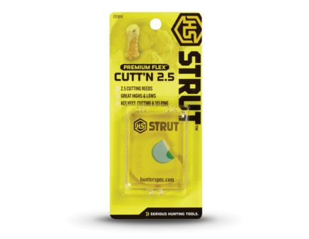 Hunter's Specialties H.S Strut Cutt'n 2.5, Premium Flex Diaphragm Turkey Call, Yellow/White - 05904