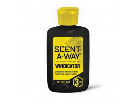 Hunter's Specialties Scent-A-Way Powder Windicator, 0.98 oz Bottle - 00791