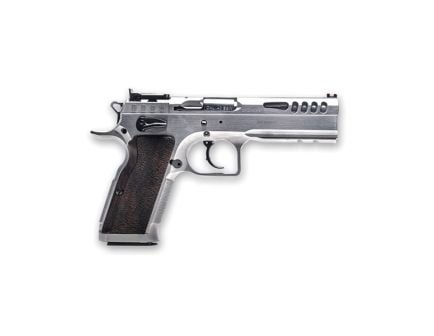Italian Firearms Group Defiant Stock Master Large 40 S&W Pistol, Chrome Hard - TF-STOCKM-40