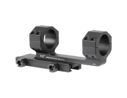 Midwest Industries 30mm 6061 T6 Aluminum 1-Piece Gen II Scope Mount, Hardcoat Anodized Black - MI-SM30G2