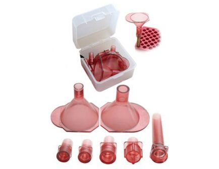 MTM Case Gard Universal Powder Funnel Set, Clear Red - AF7