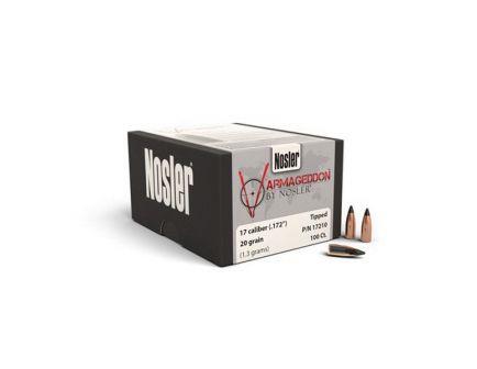 Nosler Varmageddon .17 20 gr FBTP Rifle Bullet, 100/box - 17210