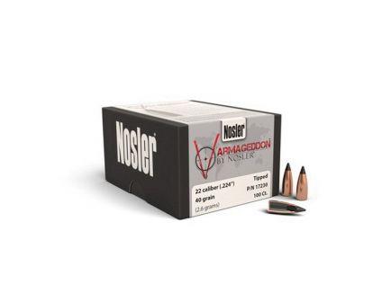Nosler Varmageddon .22 40 gr FBTP Rifle Bullet, 100/box - 17230