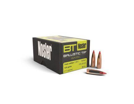 Nosler Ballistic Tip Hunting 7mm 120 gr SBT Rifle Bullet, 50/box - 28120