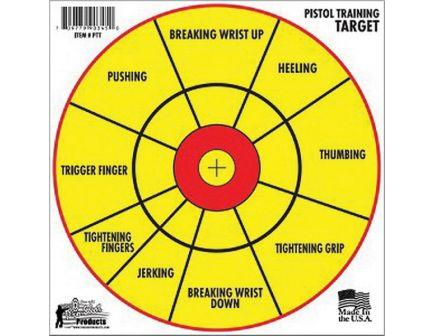 """ProShot Splatter Shot 12"""" Right/Left Hand Bullseye Pistol Diagnostic Training Target, Red/Yellow, 6/pack - PTT-6PK"""