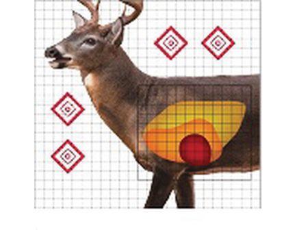 "ProShot Splatter Shot 25"" x 25"" Life-Size Whitetail Deer Sight-in Target, 5/pack - WDSI-5PK"
