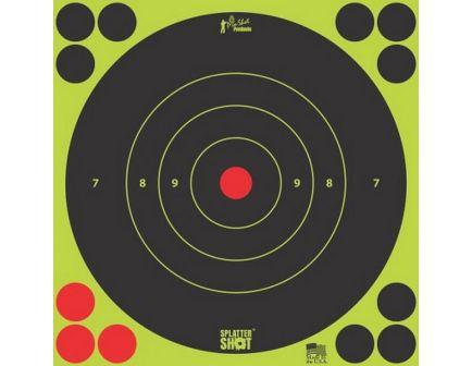 "ProShot Splatter Shot 6"" Self-Adhesive Peel and Stick Bullseye Target, Black/Green, 12/pack - 6B-GREEN-12PK"