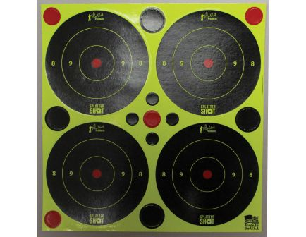 "ProShot Splatter Shot 3"" Self-Adhesive Peel and Stick Bullseye Target, Black/Green, 48/pack - 3B-GREEN-48"