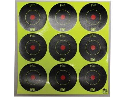"ProShot Splatter Shot 2"" Self-Adhesive Peel and Stick Bullseye Target, Black/Green, 108/pack - 2B-GREEN-108"