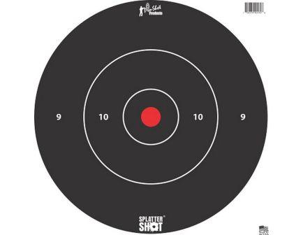 """ProShot Splatter Shot 12"""" Bullseye Target, Black/White, 12/pack - 12B-WHTE-TG-12PK"""