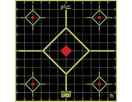 "ProShot Splatter Shot 17.75"" Square Self-Adhesive Long Range Sight-In Target, Black/Green, 5/pack - 1775SI5PK"