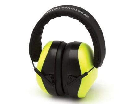 Pyramex Safety VG80 26 dB Over the Head Earmuff, Hi-Vis Lime - VGPM8031C