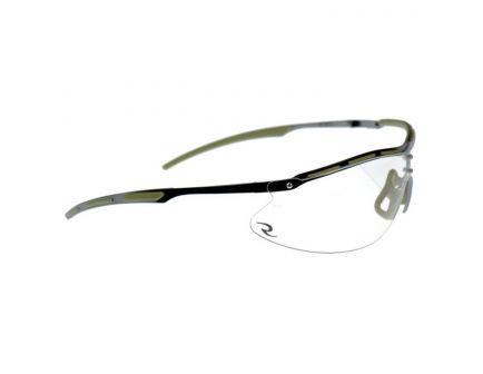 Radians Tactical Bravo Half-Frame Safety Eyewear, Clear Lens, Metal Frame - CSB101-1BX