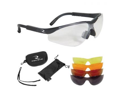 Radians T-85 Half-Frame Interchangeable Shooting Glasses Kit, Clear/Orange/Amber/Copper/Smoke - T85RC