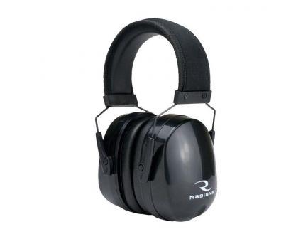 Radians 28 dB Over the Head Tactical Premium Passive Earmuff w/ Full Cap, Black - CSE30BX