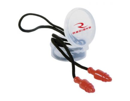 Radians 28 dB Corded Ear Plug, Red/Black - JP3150HC