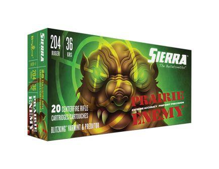Sierra GameChanger 36 gr Sierra BlitzKing .204 Ruger Ammo, 20/box - A1036--11