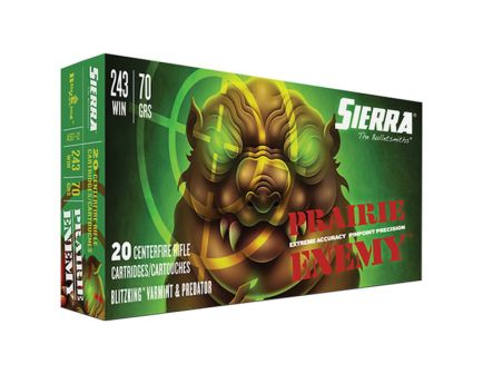 Sierra GameChanger 70 gr Sierra BlitzKing .243 Win Ammo, 20/box - A1507--02