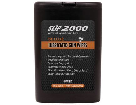 "Slip 2000 Deluxe Lubricated Gun Cleaning Wipes, 2.5"" x 4"", 60/Dispenser - 60614"