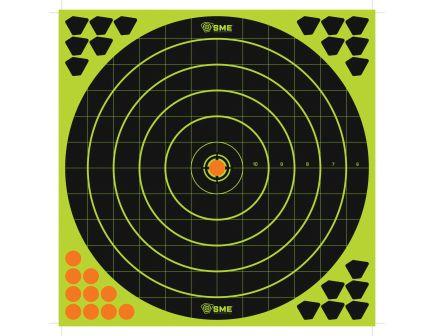 """SME 12"""" Round Splatter Target, Black, 6/pack - SME-TRG-12RS"""