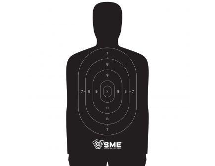 """SME 11.5"""" x 22"""" Silhouette Target, Black, 100/pack - SME-TRG-SIL"""