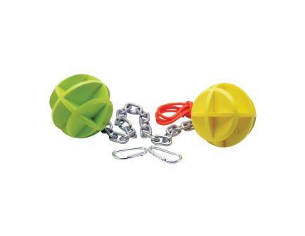 "SME 4"" Self-Healing Dueling Balls Target, Green/Yellow - SME-BBC"