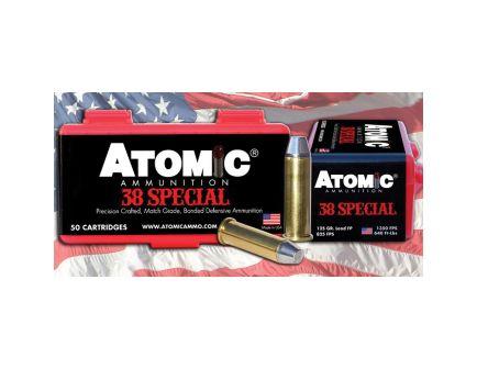 Atomic Ammunition Cowboy Action 125 gr LRNFP .38 Spl Ammo, 50/box - 451