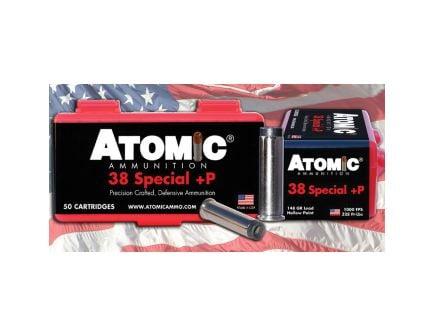 Atomic Ammunition Match 148 gr HBW .38 Spl Ammo, 50/box - 449